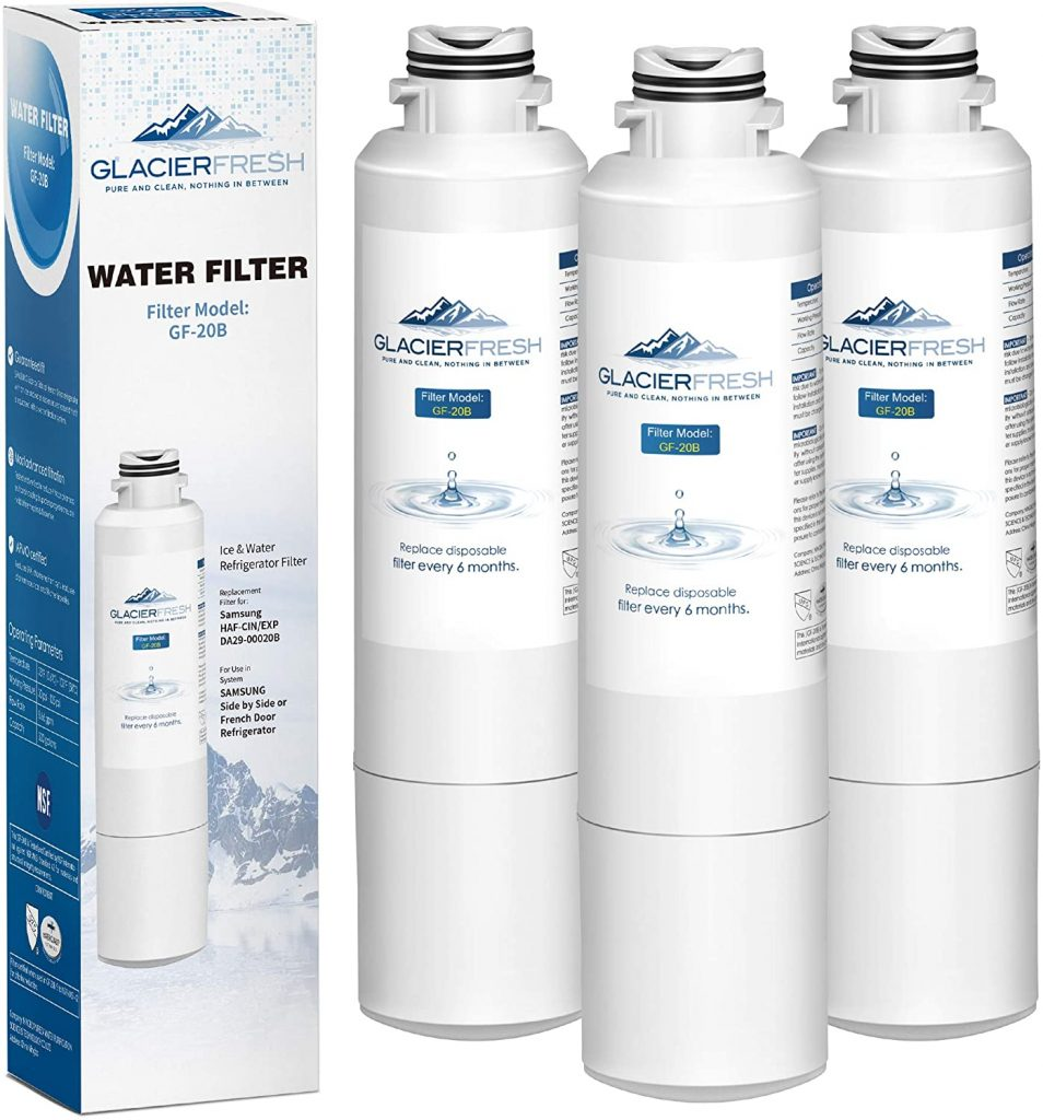 GLACIER FRESH DA29-00020B Refrigerator Water Filter